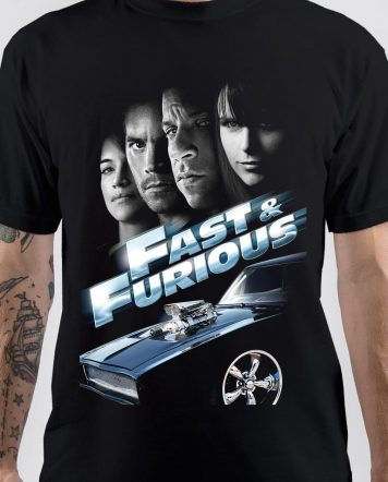 Fast & Furious Black T-Shirt