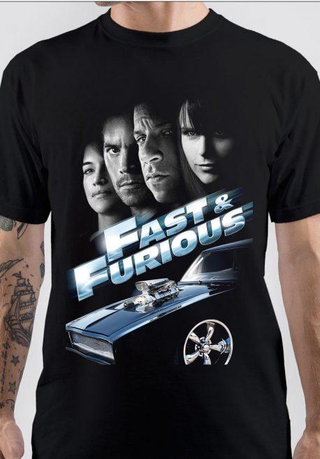 Fast & Furious Black T-Shirt