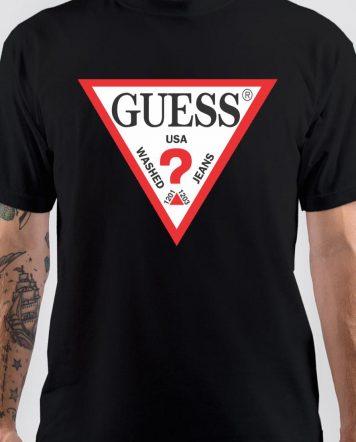 Guess USA Black T-Shirt