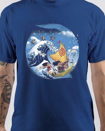 Moana Royal Blue Art T-Shirt